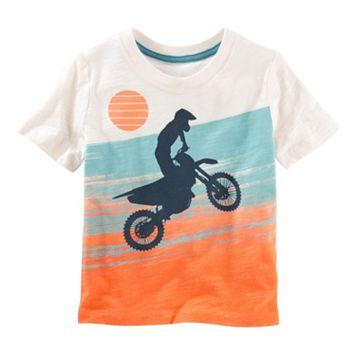 Toddler Boy OshKosh B'gosh® Slubbed Moto Surf Graphic Tee