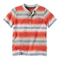 Baby Boy Carter's Short Sleeve Striped Pocket Henley Tee