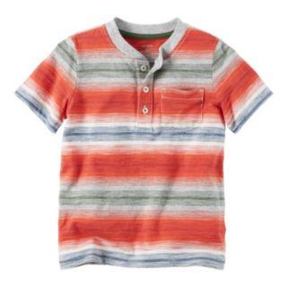 Baby Boy Carter's Short Sleeve Striped Pocket Henley Tee