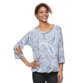 Women's Croft & Barrow® Cold-Shoulder Boatneck Top