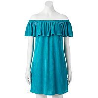 Juniors' Trixxi Off The Shoulder Shift Dress