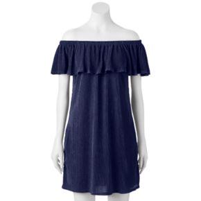 Juniors' Trixxi Off The Shoulder Shift Dress