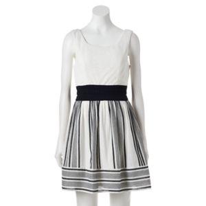 Juniors' Trixxi Lace Gauze Skater Dress