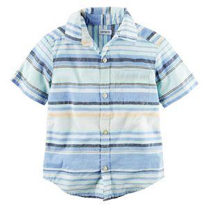 Baby Boy Carter's Striped Woven Button-Front Shirt
