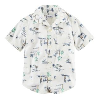 Baby Boy Carter's Tropical Woven Button-Front Shirt