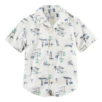 Baby Boy Carter's Tropical Woven Button-Front Shirt