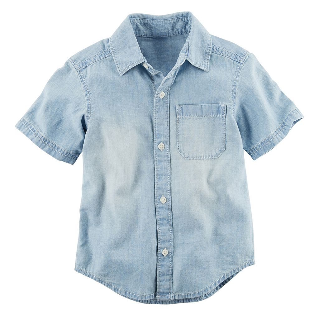 Baby Boy Carter's Chambray Woven Button-Front Shirt