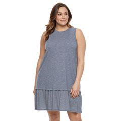 Plus Size SONOMA Goods for Life™ Drop-Waist Flounce Dress