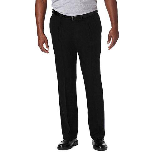 Big & Tall Haggar® Cool 18® PRO Wrinkle-Free Pleated Expandable Waist Pants