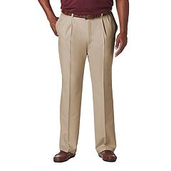 Big & Tall Haggar® Cool 18® PRO Classic-Fit Wrinkle-Free Pleated Expandable Waist Pants
