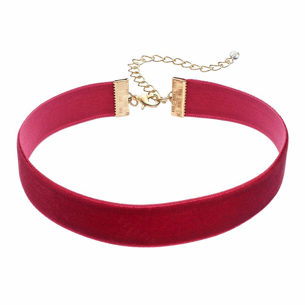 Velvet Ribbon Choker Necklace