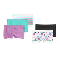 Girls 4-16 SO® 5 pkStriped & Seamless Solid Boyshort Panties
