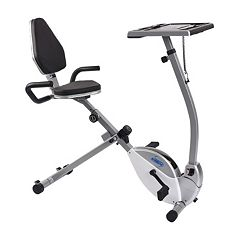 Stamina 2-in-1 Recumbent Exercise Bike Workstation & Standing Desk