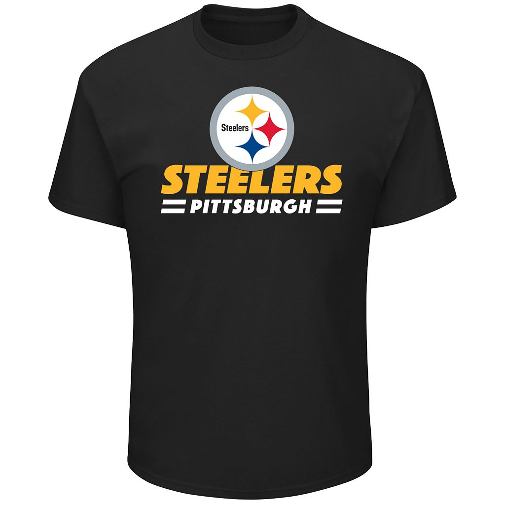 Big & Tall Majestic Pittsburgh Steelers Team Color Tee
