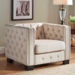 HomeVance Montclair Button Tufted Arm Chair