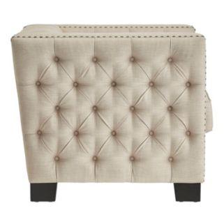 HomeVance Montclair Button Tufted Arm Chair