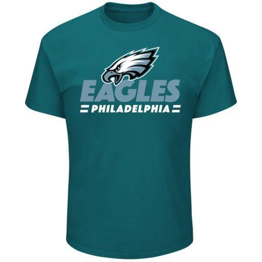 Big & Tall Majestic Philadelphia Eagles Team Color Tee