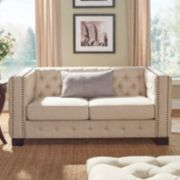 HomeVance Montclair Button Tufted Loveseat