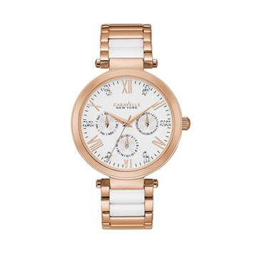 Caravelle New York by Bulova Women's Crystal Stainless Steel & Ceramic Watch- 44N108