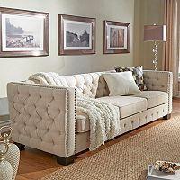 HomeVance Montclair Button Tufted Sofa
