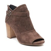 SO® Fam Women's Peep Toe Ankle Boots