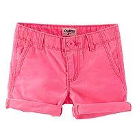 Toddler Girl OshKosh B'gosh® Neon Roll-Cuff Shorts