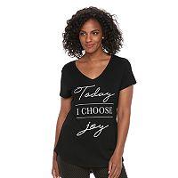 Women's Apt. 9® V-Neck Graphic Tee