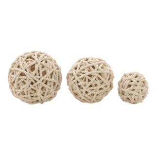 Rope Ball Vase Filler 3-piece Set