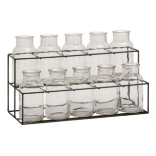 Glass Jar & Stand Table Decor 11-piece Set