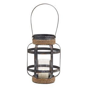 Coastal Rope Lantern Candle Holder