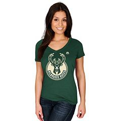 Women's Majestic Milwaukee Bucks Timeless Tee