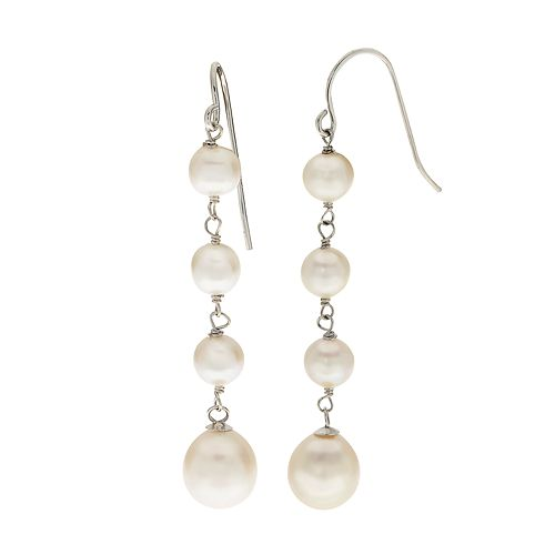 PearLustre by Imperial  Freshwater Cultured Pearl Linear Drop Earrings