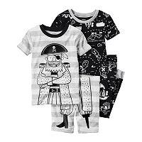 Baby Boy Carter's Graphic Tee, Print Tee, Graphic Shorts & Printed Pants Pajama Set