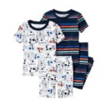 Baby Boy Carter's Graphic Tee, Print Tee, Graphic Shorts & Printed Pants Pajama Set
