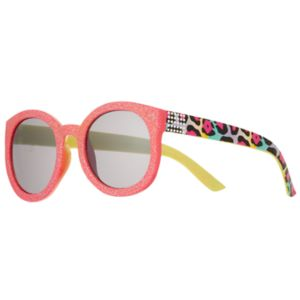 Girls 7-16 SO® Coquette Round Glitter Sunglasses