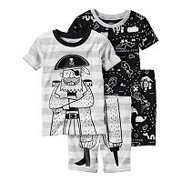 Toddler Boy Carter's Graphic & Print 4-pc. Pajama Set