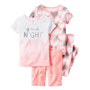 Baby Girl Carter's Print & Graphic 4-pc. Pajama Set