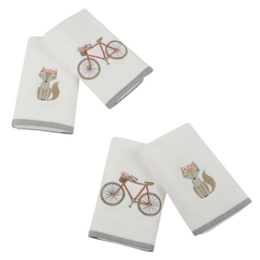 HipStyle 4-pack Afternoon Ride Embroidered Towel