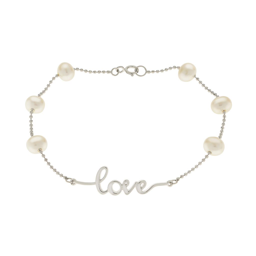 PearLustre by Imperial Sterling Silver Freshwater Cultured Pearl
