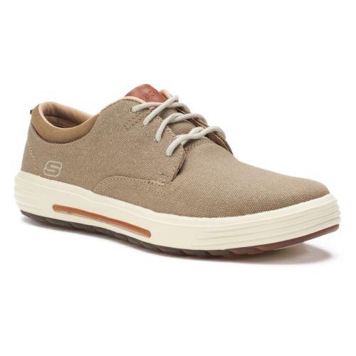Skechers Classic Fit Porter - Zevelo (Khaki Canvas) Mens Shoes