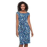 Women's Connected Apparel Abstract Dot Sheath Dress