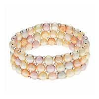 PearLustre by Imperial Sterling Silver Freshwater Cultured Pearl Stretch Bracelet