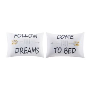 HipStyle 2-pack Follow Your Dreams Pillowcase