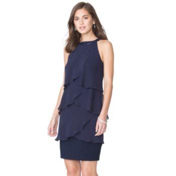 Women's Chaps Tiered Evening Dress