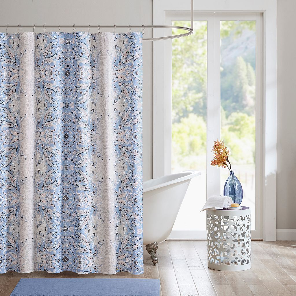 Intelligent Design Raina Microfiber Printed Shower Curtain