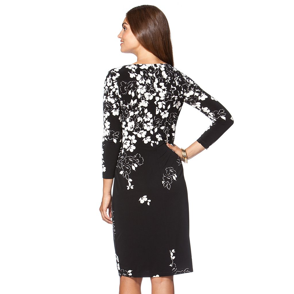 Petite Chaps Floral Shift Dress