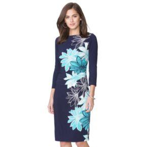 Petite Chaps Floral Shift Dress