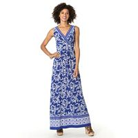 Petite Chaps Printed Maxi Dress
