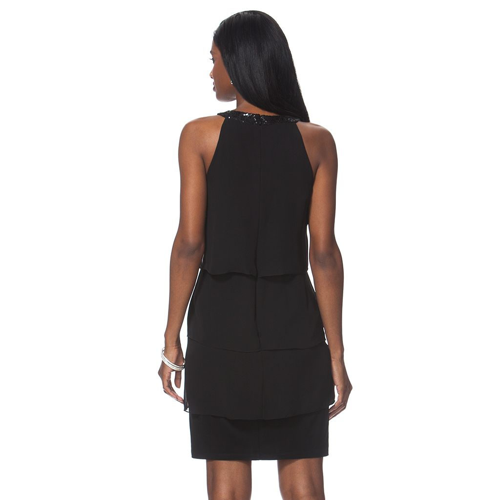 Petite Chaps Tulip Tier Sheath Dress