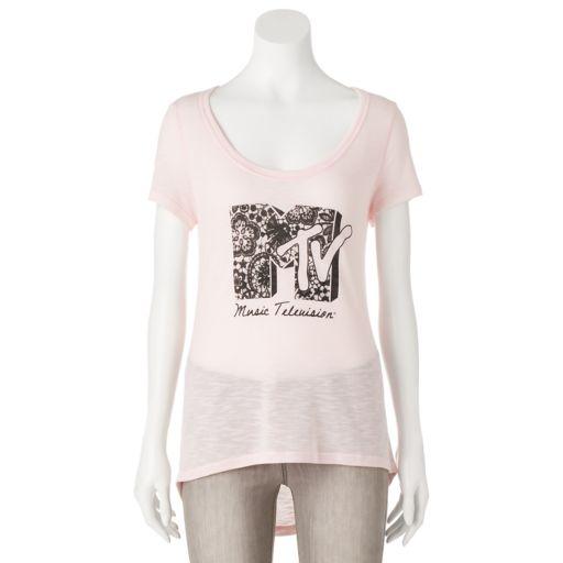 Juniors' MTV Logo Graphic Tee
